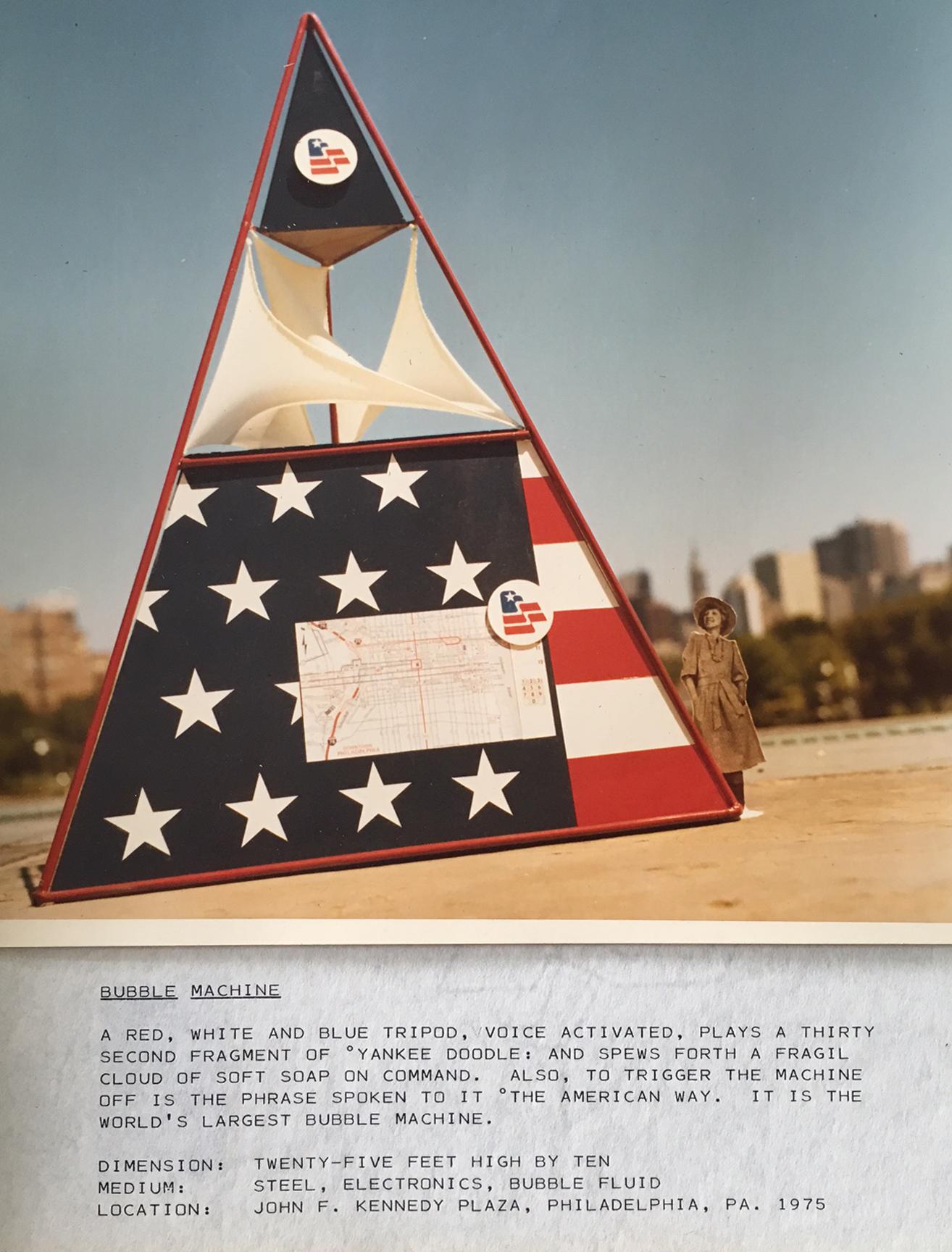 Remo Saraceni 1976 Bicenntenial, Bubble Machine-model_ Philadelphia