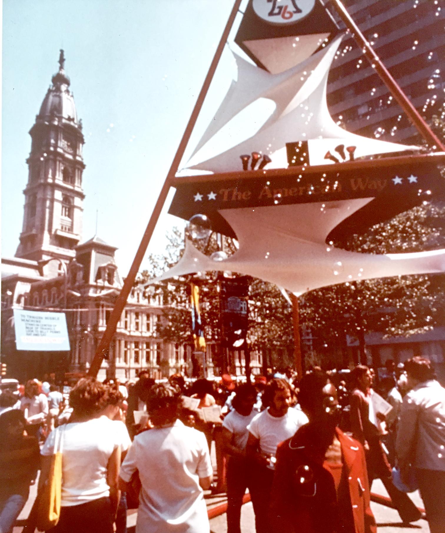 Remo Saraceni 1976 Bicenntenial, Bubble Machine_ sculpture in Philadelphia